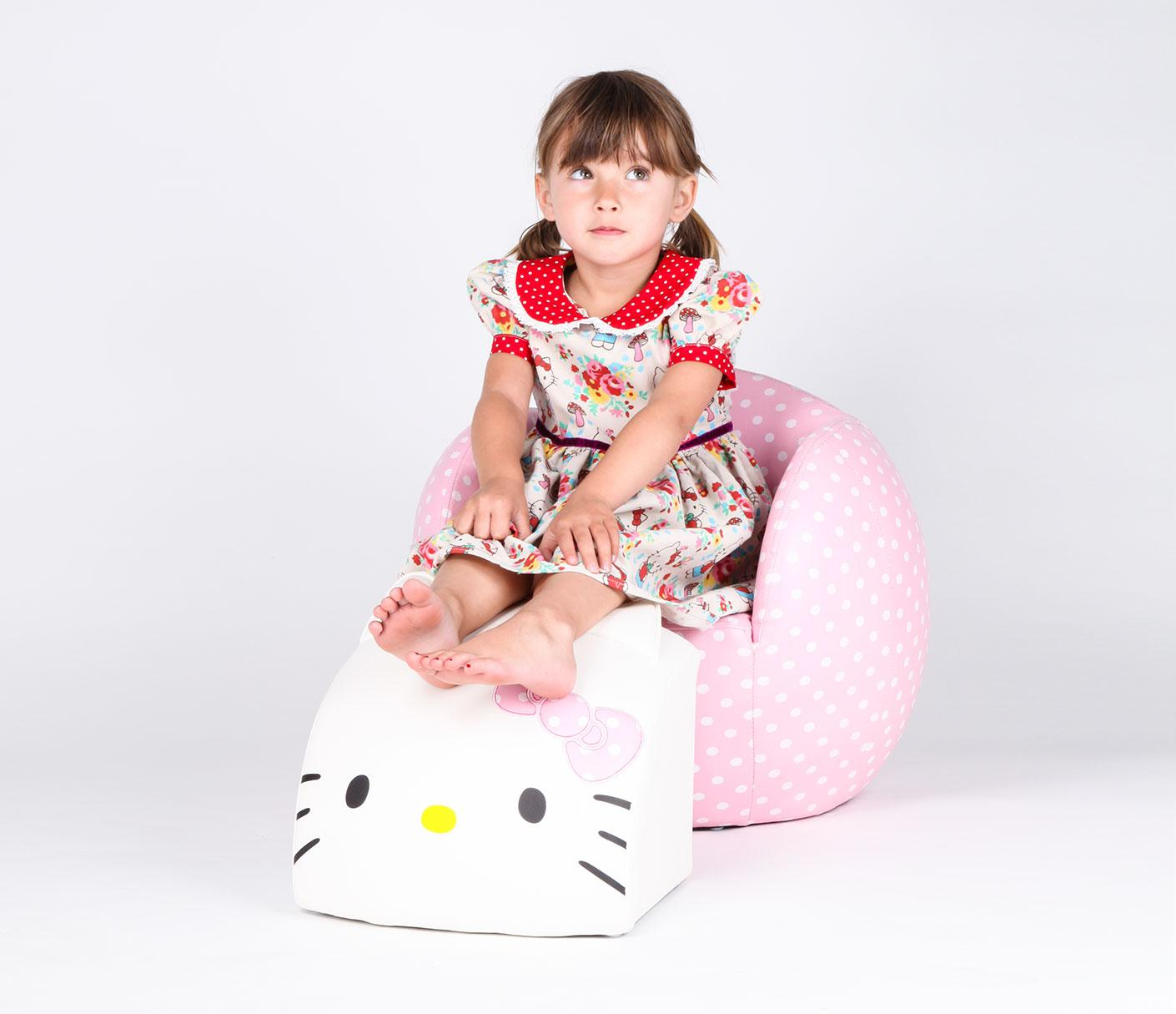 The Hello Kitty Peek-A-Boo Chair plus Ottoman: An absolute must-have for any kid