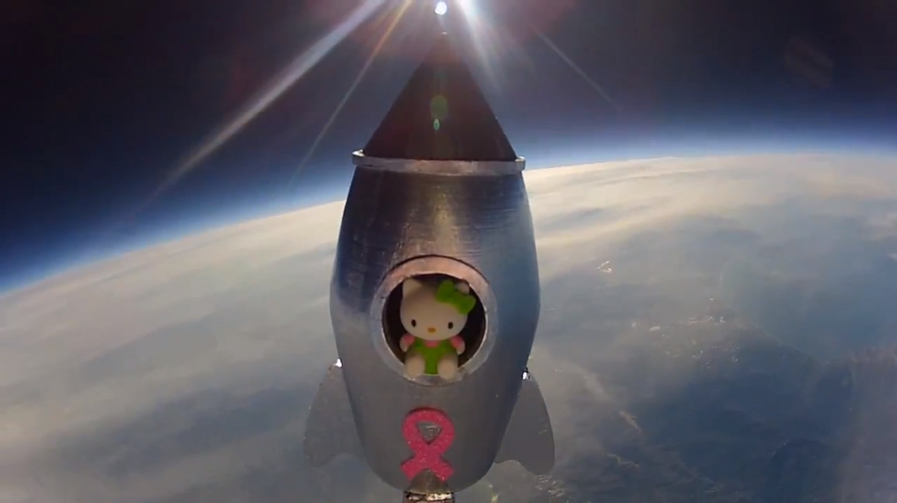 7th Grade Science Project sends Hello Kitty to Space