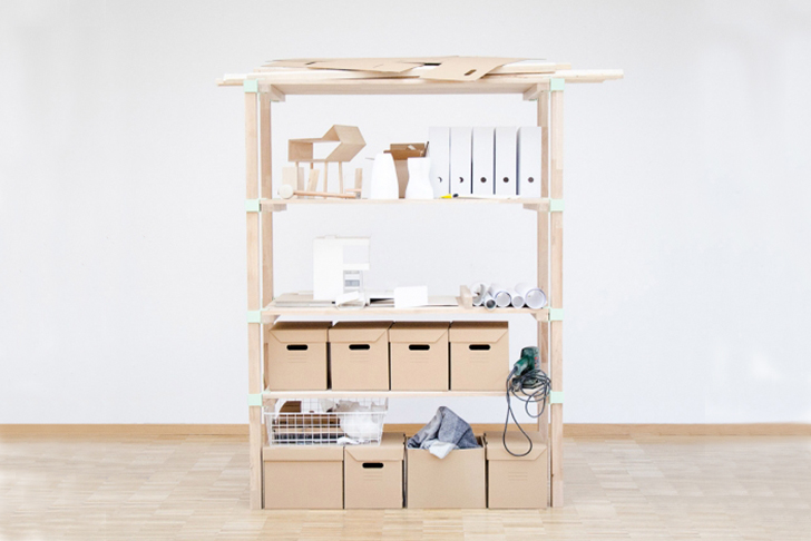 The Klopf Klopf: A kitchen unit, desk, bookshelf and wardrobe, all in one