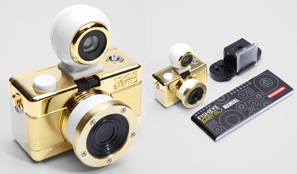 Lomography Fisheye Baby 110 Gold Edition for Bling lovers!
