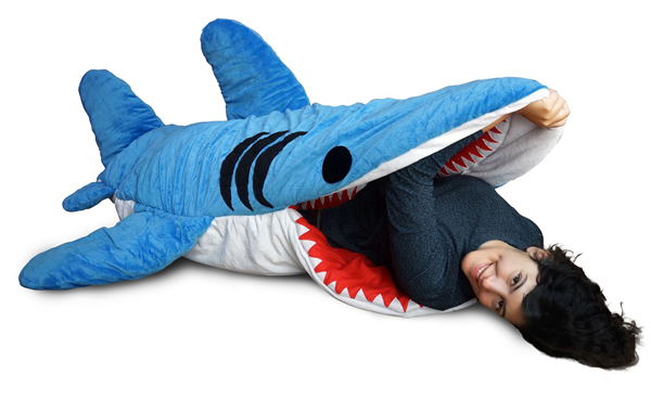 chumbuddy sleeping bed resembles a shark gizmodiva