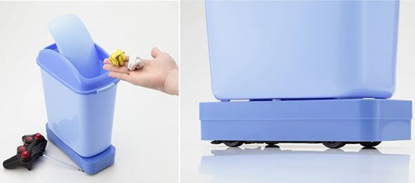 Remote-Controlled Garbage Can for lazy bums!