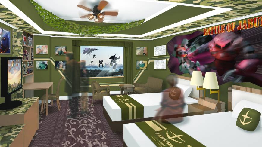 The Grand Pacific Le Daiba hotel introduces a third Gundam themed room for fervent fans