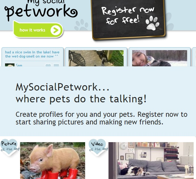 My Social Petwork is like Facebook for Pets