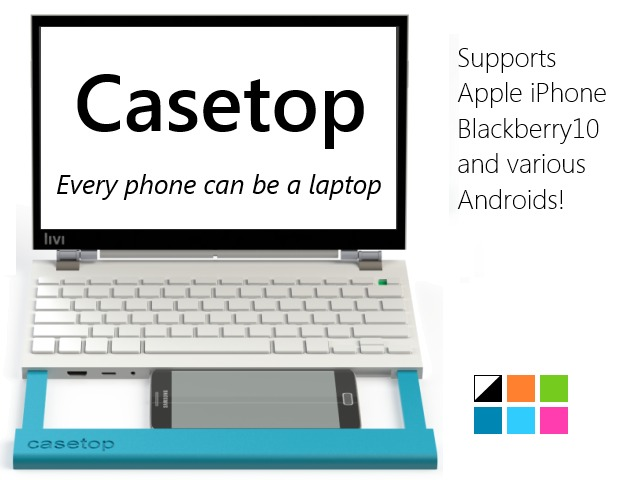 Casetop can turn your Smartphone into a Laptop!