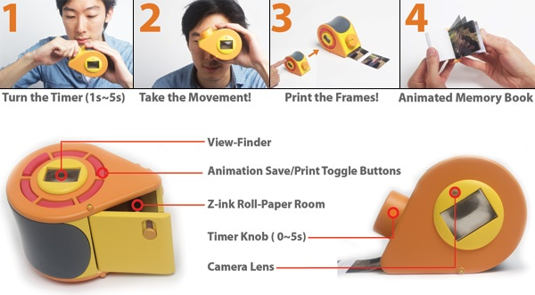 GIF-TY Polaroid Camera makes you a Flip Book of Memories Instantly
