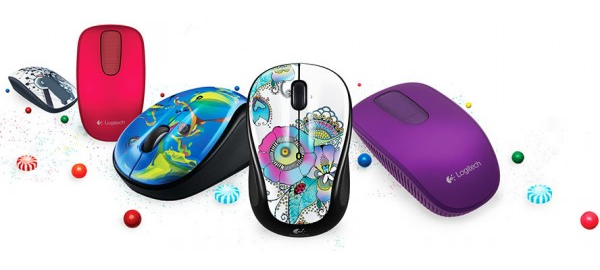 Logitech's Color Collection offers T400 Zone Touch and M325 wireless Color Bombs