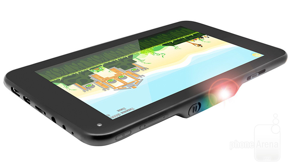 LumiTab combines a tablet and a portable projector