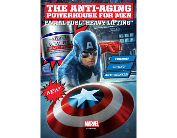 Kiehl's Captain America Moisturizer is for tough men!
