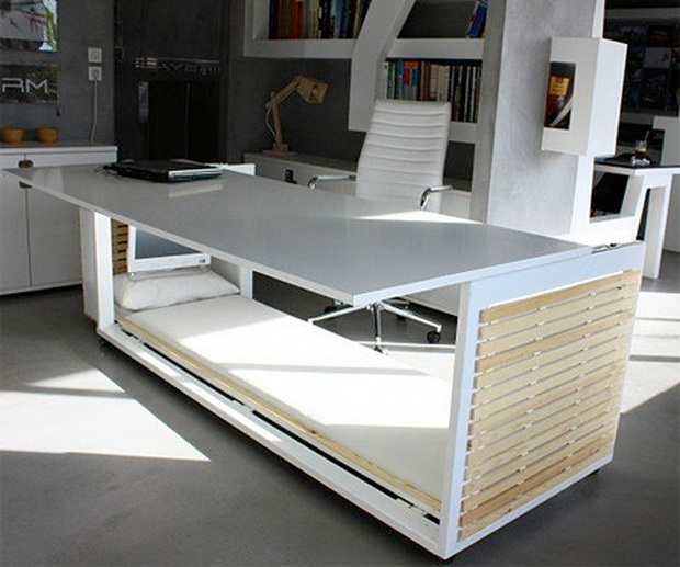 Streamlined Modern Desk Bed is your Desk cum Snooze Station