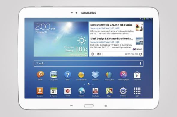 Samsung debuts first Android tablet using an Intel chip
