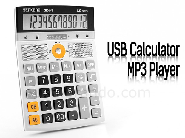 Mathematics can be fun with USB Calculator MP3 Player