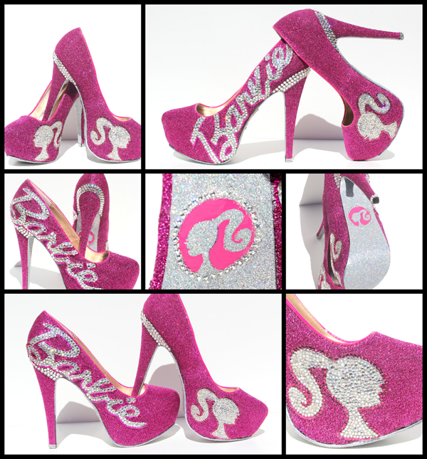 Beautiful Barbie Heels with Swarovski Crystals by WickedAddiction