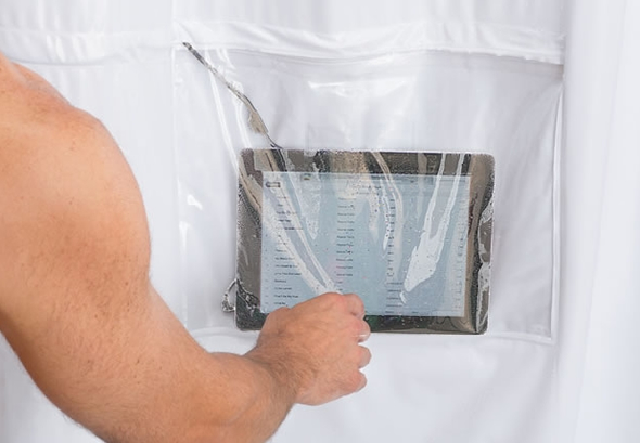 iPad Musical Curtain lets you groove while you shower!
