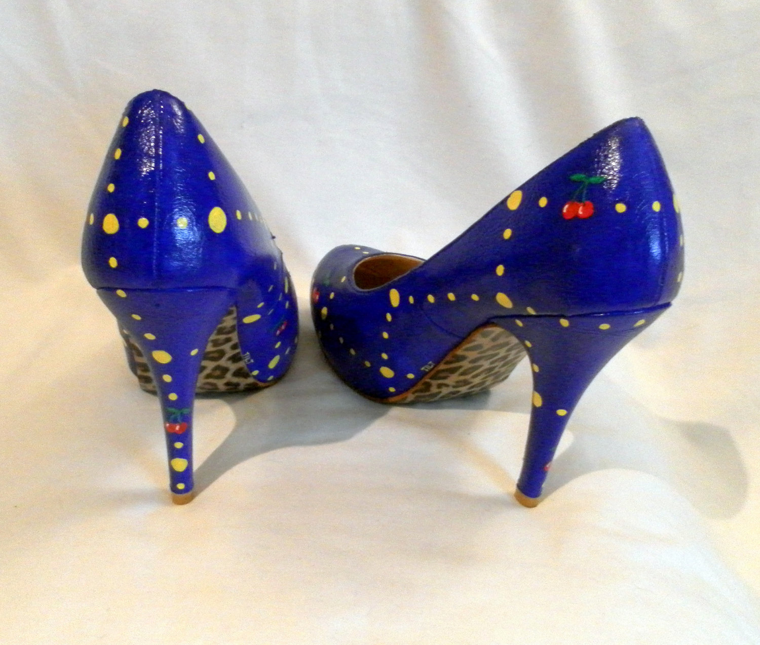 Hand Painted Ms. Pac-Man High Heel Shoes by Tilted Shoes