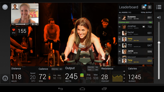 Android Powered Exercise Bike brings Spinning Classes into Your Home