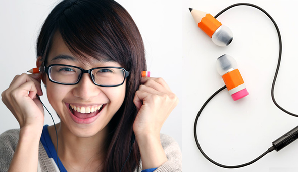 The Magic Pencil Earphone: Is that a pencil slicing through your brain?
