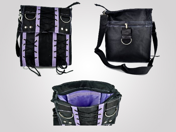 Purple Corset Sling Bag Purse: Fiercely fashionable