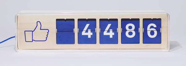 Fliike: The analog counter to keep track of your Facebook Likes