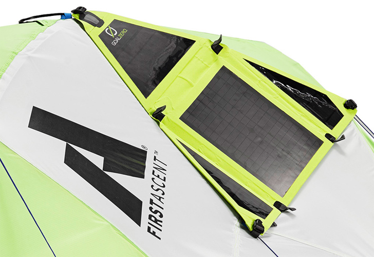 Solar Panel Tent can Charge your Gadgets