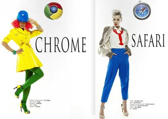 Мода Hi-Tech: женщины одеваются, как Интернет-браузеры