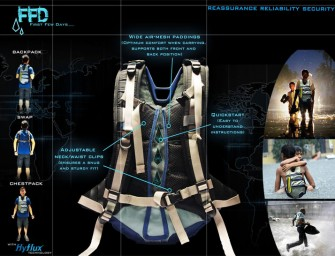 "The ""First Few Days"" Backpack: Provides water and electricity during emergencies"
