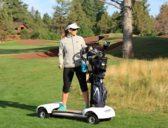 GolfBoard: An electric skateboard golf cart for modern golfers!