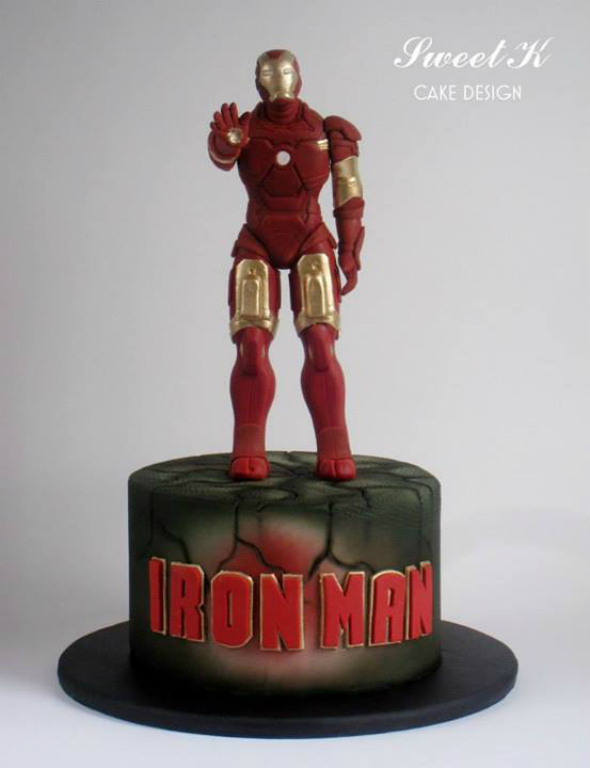 Sweet K Cake Design : Eat and Beat this Awesome Iron Man Cake by Sweet K Cake ...