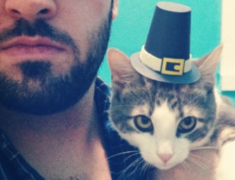 Comic Artist Adam Ellis dons the Hat of a Milliner for his Three-legged Cat