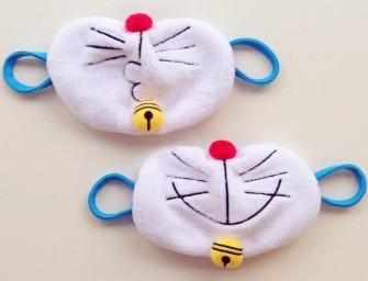 Look Cute in a Doraemon Face Mask