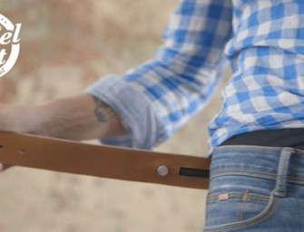 Triposo Travel Belt vibrates to navigate locations