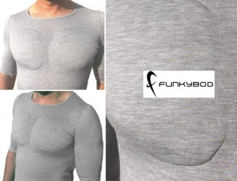 Funkybod, the push-up bra for men; Finally!