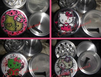 The Hello Kitty Zombie line of Herb Grinders is irresistible