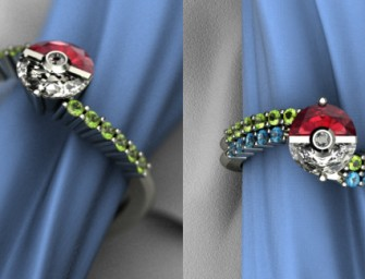 Say 'I Do' the animated way with the Pokeball Engagement Ring