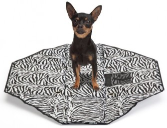 Sherpa Tote Bag unfolds into a Pet Bed