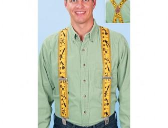 Tape Measure Suspenders: Cutting edge fashion
