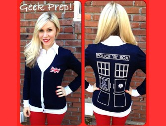 TARDIS Cardigans for geekastic winters!