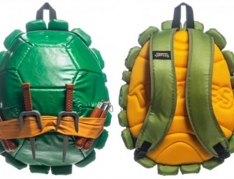 TMNT backpack looks Awesome with Masks, Weapons and all that Jazz