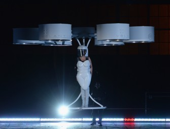 Lady Gaga Stuns the World with First of its Kind Flying Dress