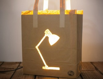 Bag Light: Simple yet effective warm lighting