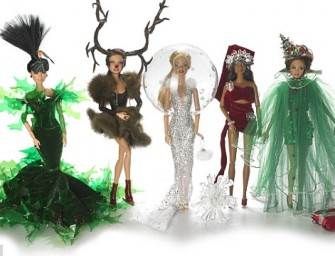 Barbie gets a Festive Makeover by Famed Milliner Stephen Jones