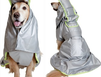 Awesome Shock and Fire Resistant Disaster Prevention Cloak for Dogs