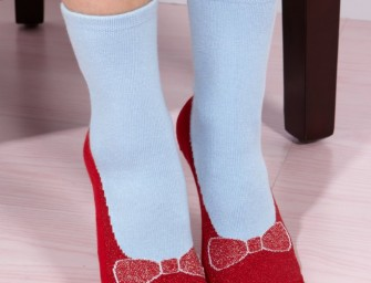 Ruby Red Slipper Socks: Who needs shoes?