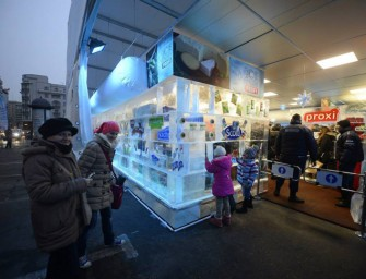 World's first Supermarket made entirely out of Ice opens in Romania