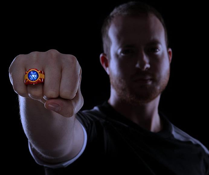 Iron Man Arc Reactor Ring Iron-man-led-ring-3