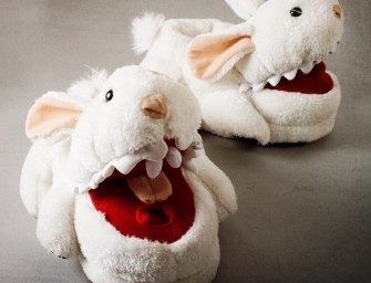 Killer Bunny Slippers: Sleep with one eye open!