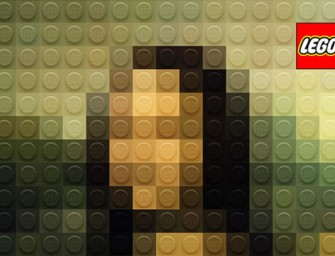 Mona Lego Lisa- Italian Designer Legofies Classic Paintings