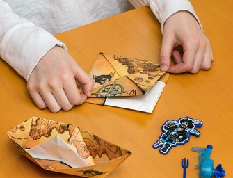 PowerUp Boat Motorized Paper Boat Kit: It actually sails