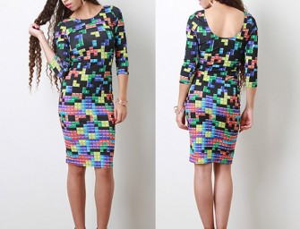 Tetris Tile Connection Dress: A Great Fashion Puzzle!