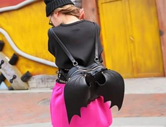 Batwings Heart Shaped Backpack for a dainty superhero